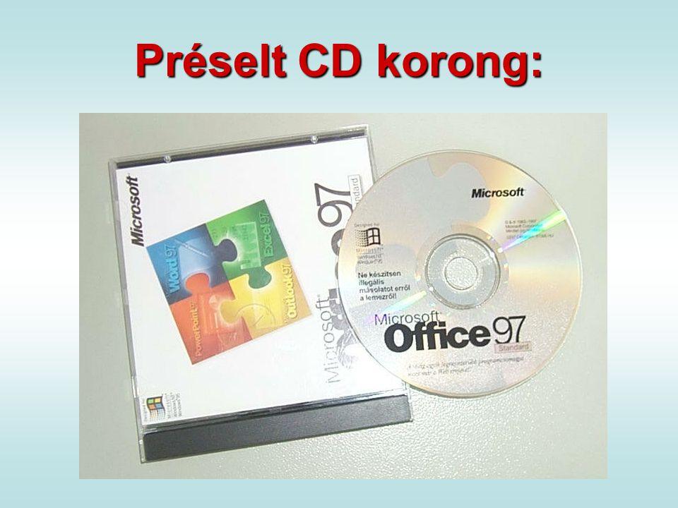 Préselt CD korong: