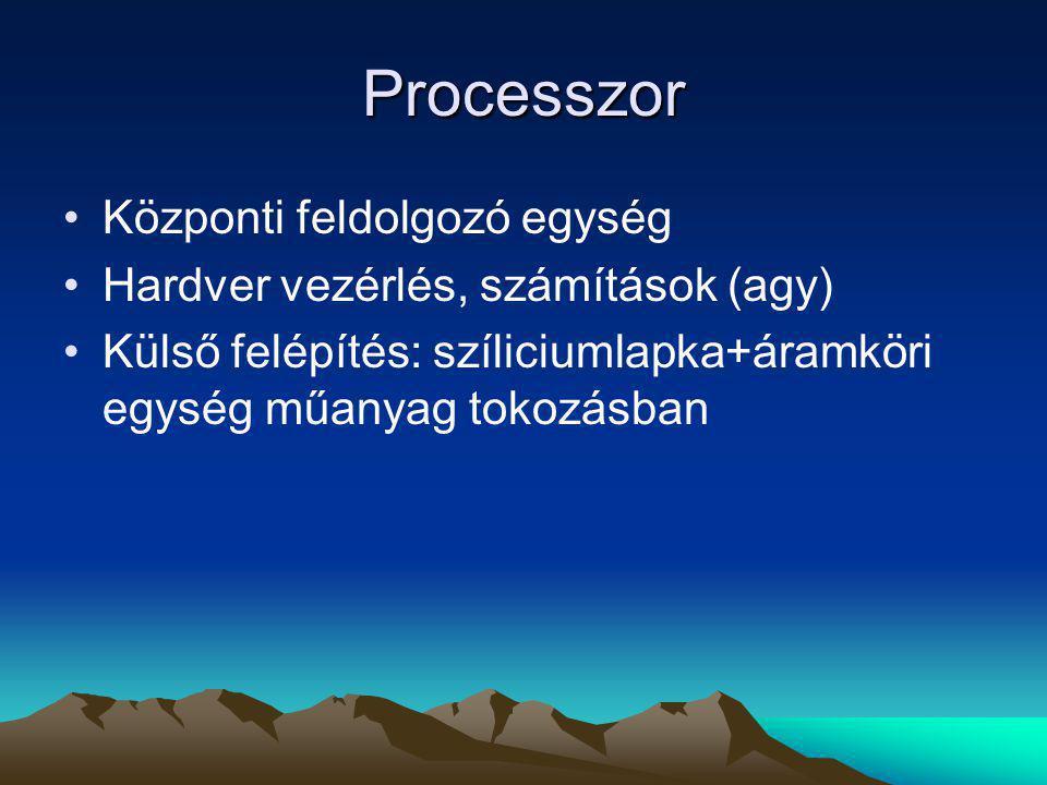 Processzor Központi feldolgozó egység