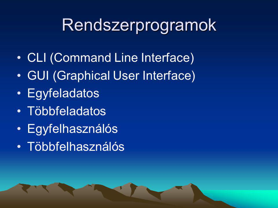 Rendszerprogramok CLI (Command Line Interface)