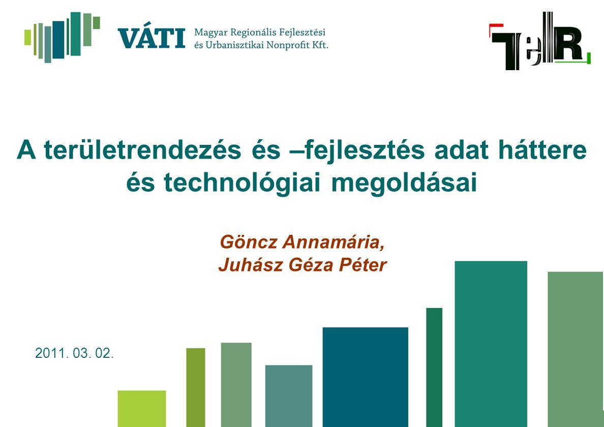 A területrendezés és –fejlesztés adat háttere és technológiai megoldásai Göncz Annamária, Juhász Géza Péter