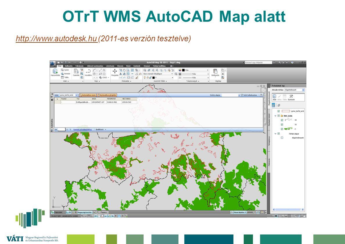 OTrT WMS AutoCAD Map alatt