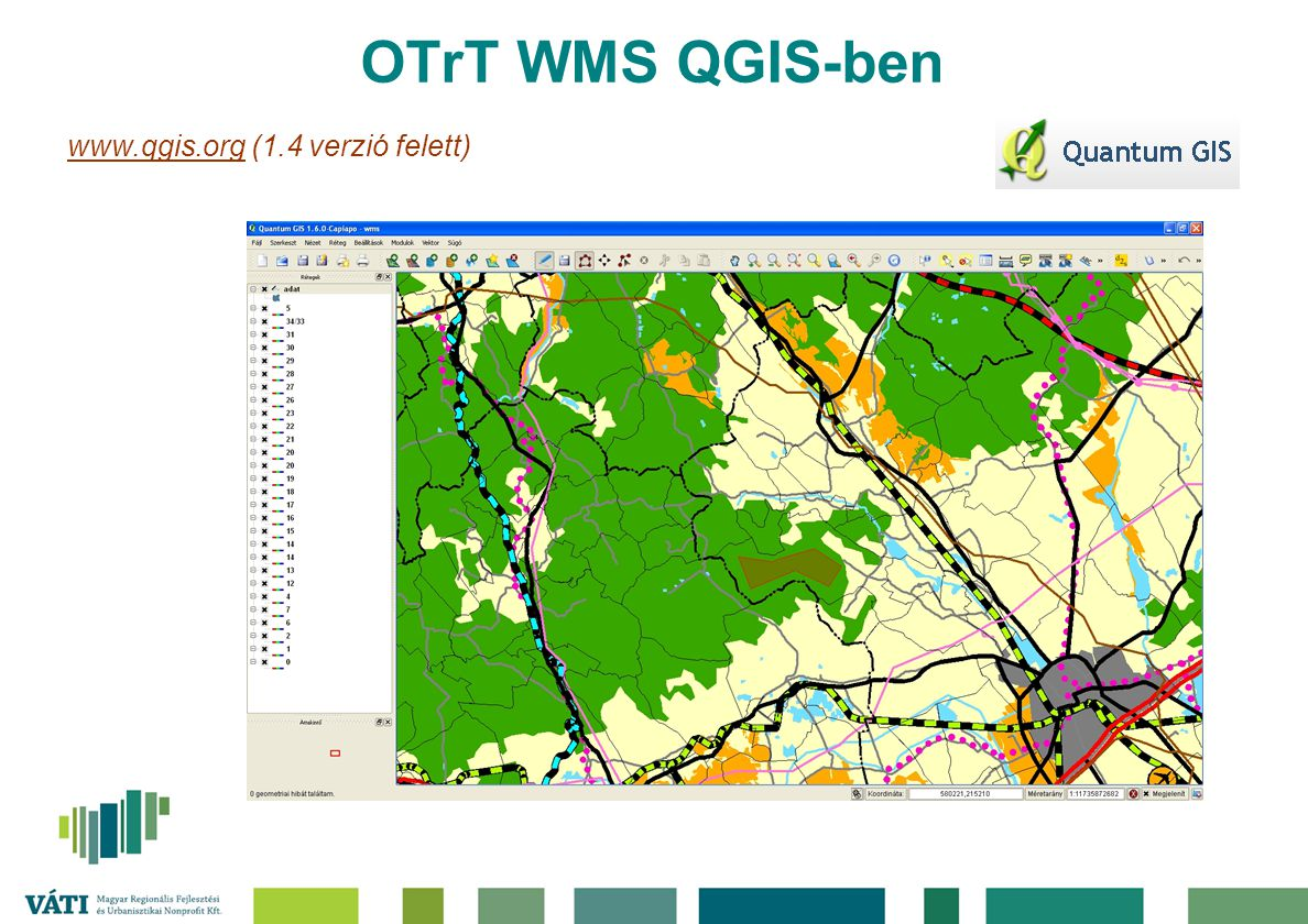OTrT WMS QGIS-ben www.qgis.org (1.4 verzió felett)
