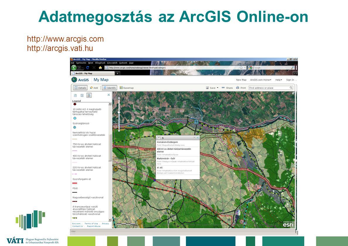 Adatmegosztás az ArcGIS Online-on