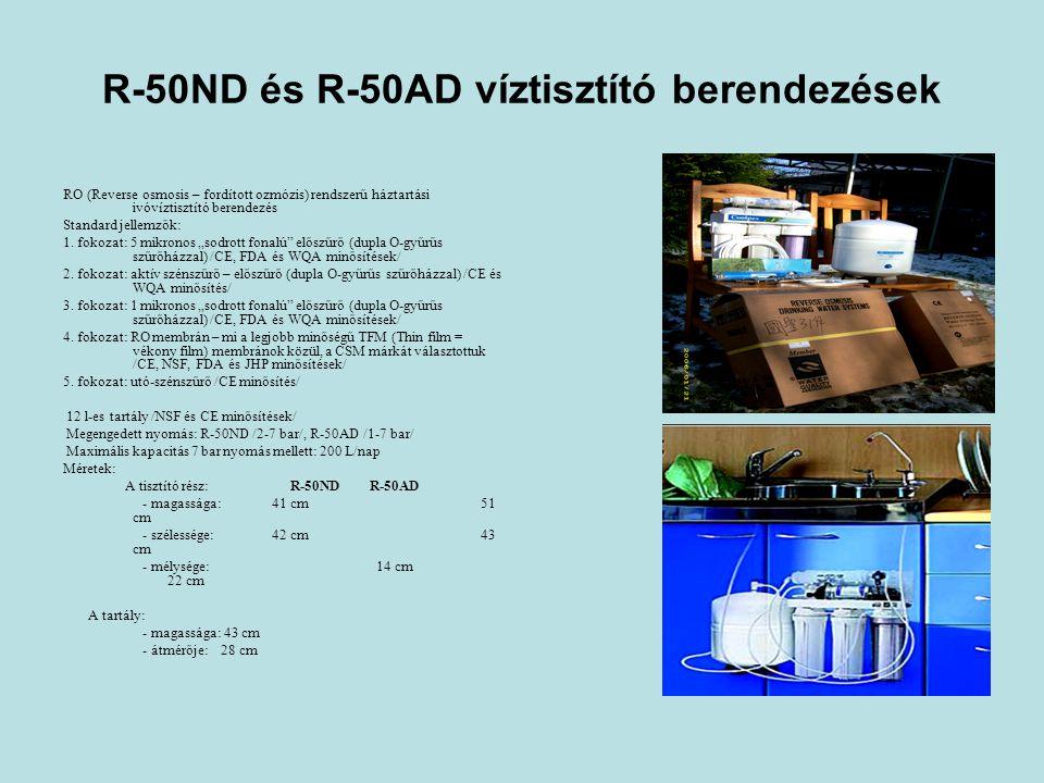 R-50ND és R-50AD víztisztító berendezések