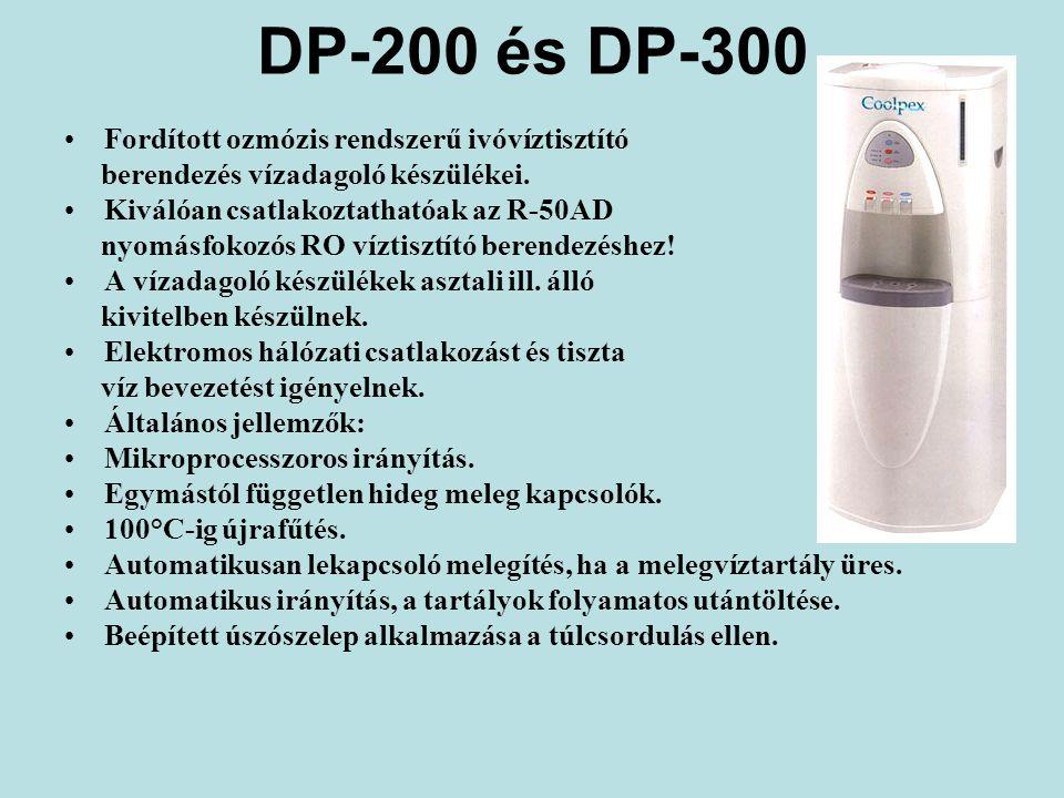 DP-200 és DP-300 Fordított ozmózis rendszerű ivóvíztisztító