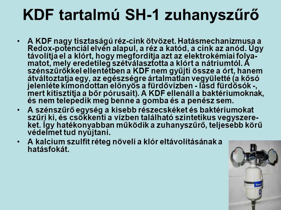 KDF tartalmú SH-1 zuhanyszűrő