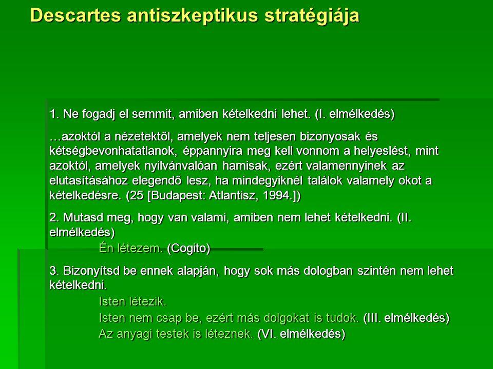 Descartes antiszkeptikus stratégiája