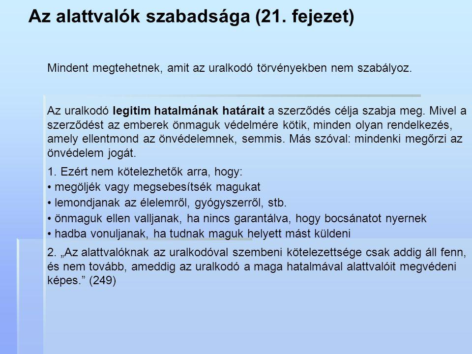 Az alattvalók szabadsága (21. fejezet)