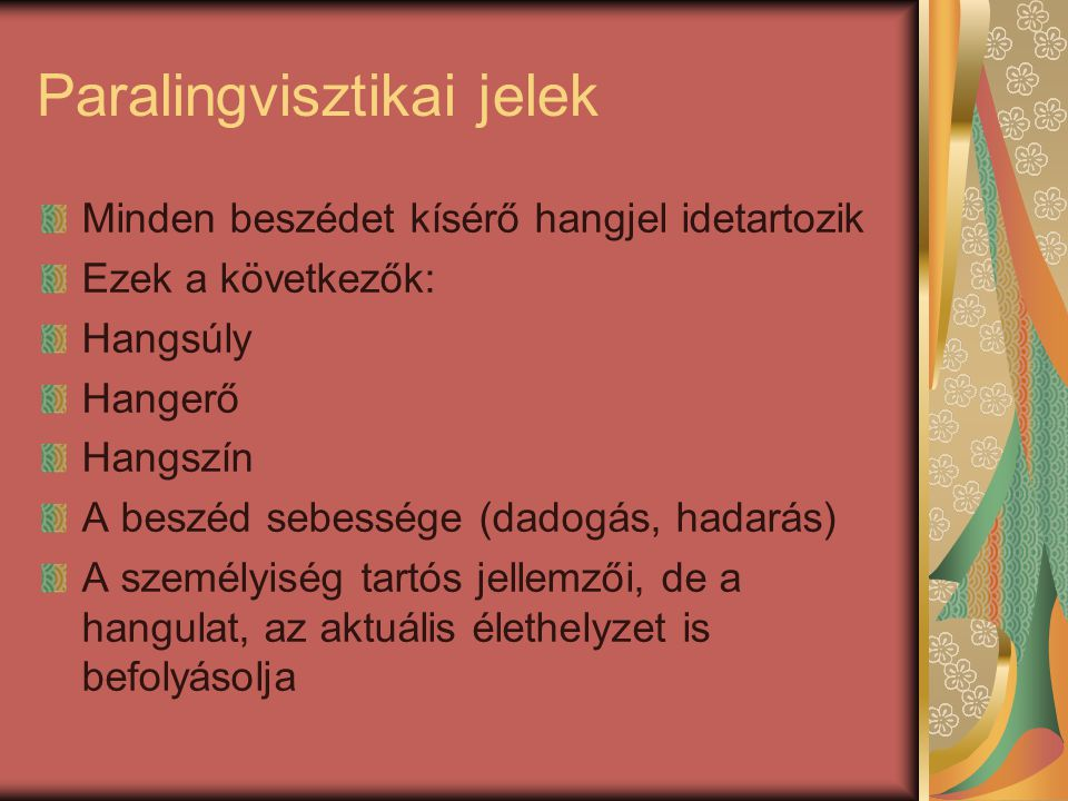 Paralingvisztikai jelek