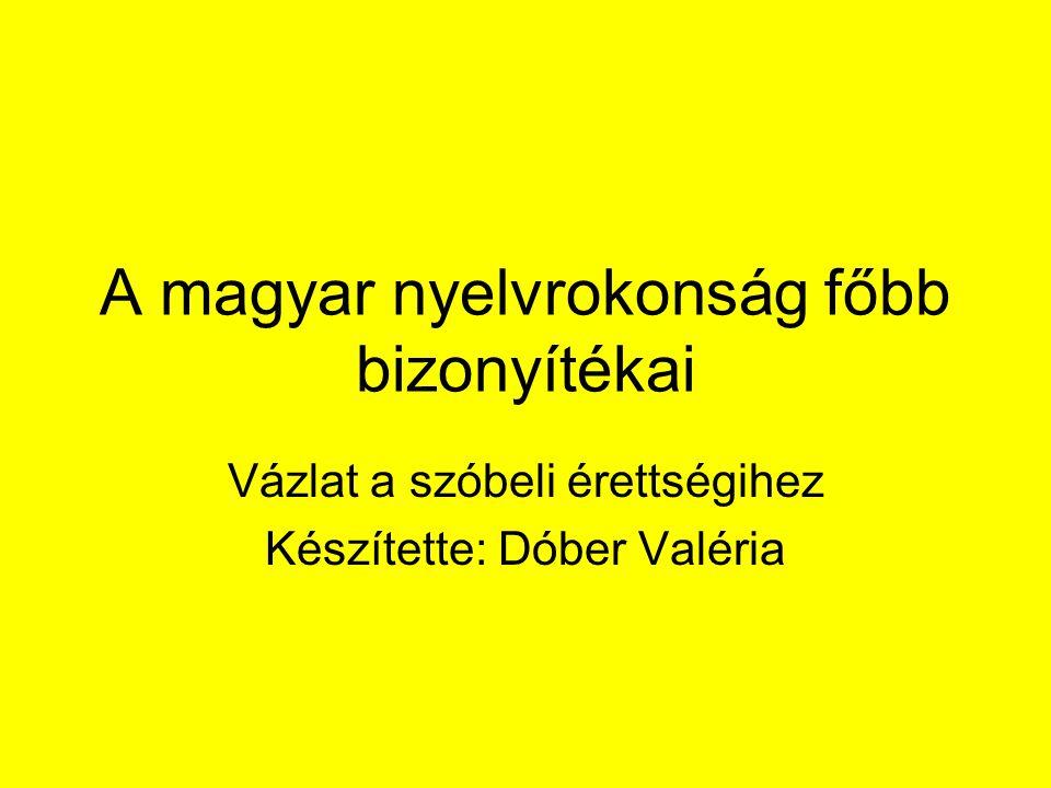 A magyar nyelvrokonság főbb bizonyítékai