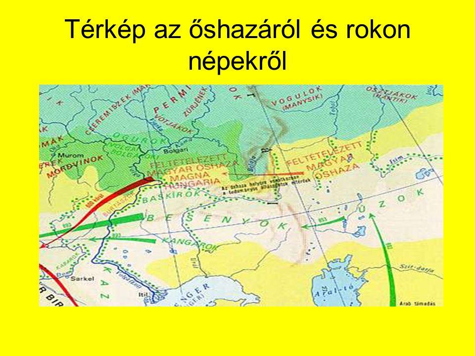 Térkép az őshazáról és rokon népekről