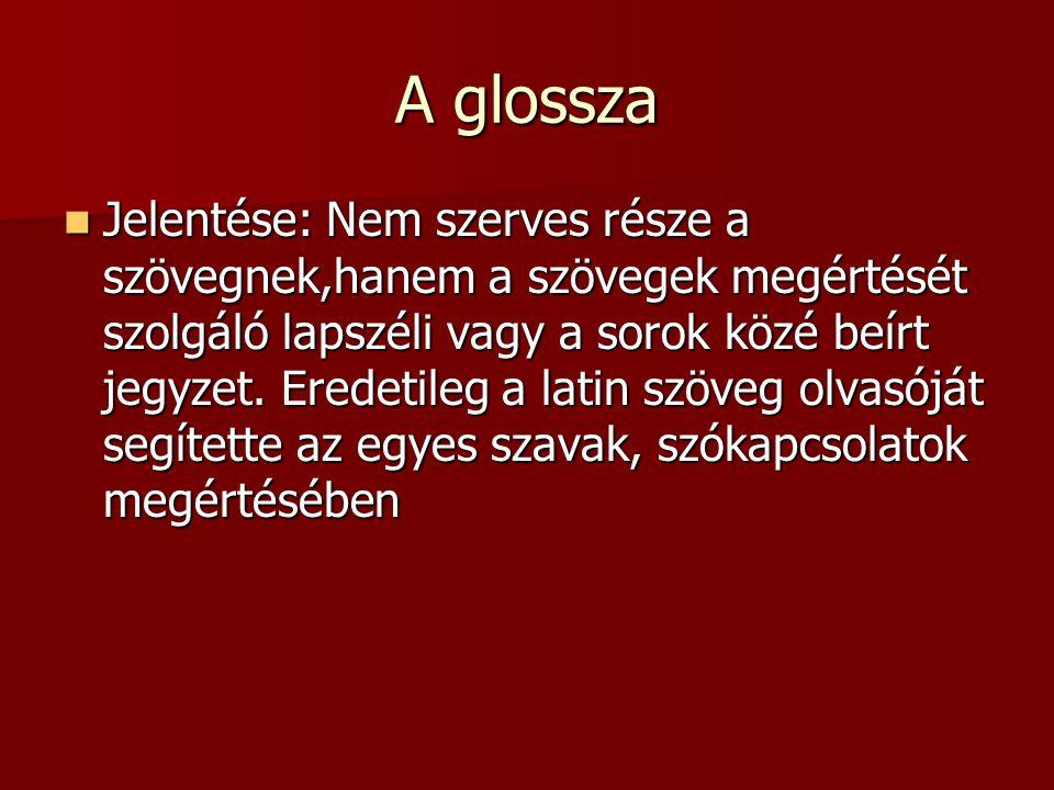 A glossza