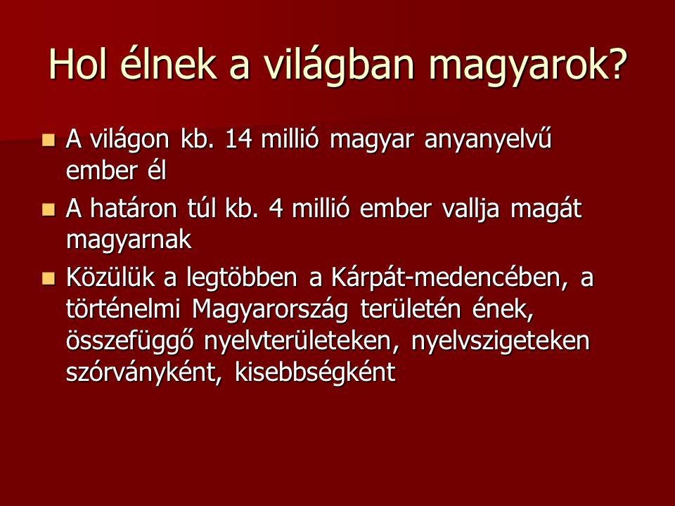 Hol élnek a világban magyarok