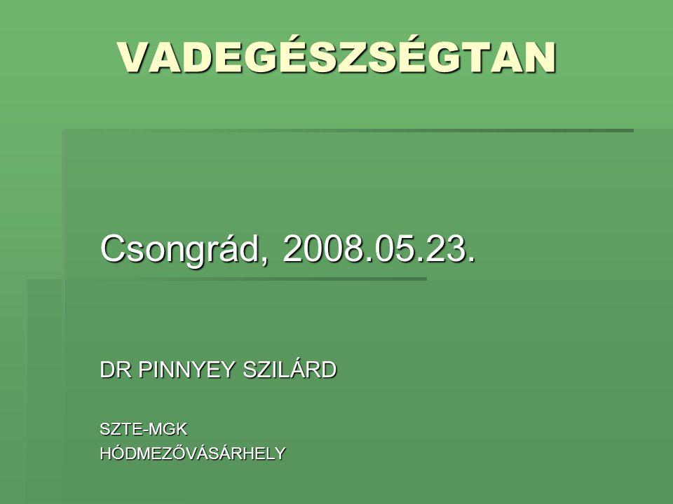 Csongrád, 2008.05.23. DR PINNYEY SZILÁRD SZTE-MGK HÓDMEZŐVÁSÁRHELY