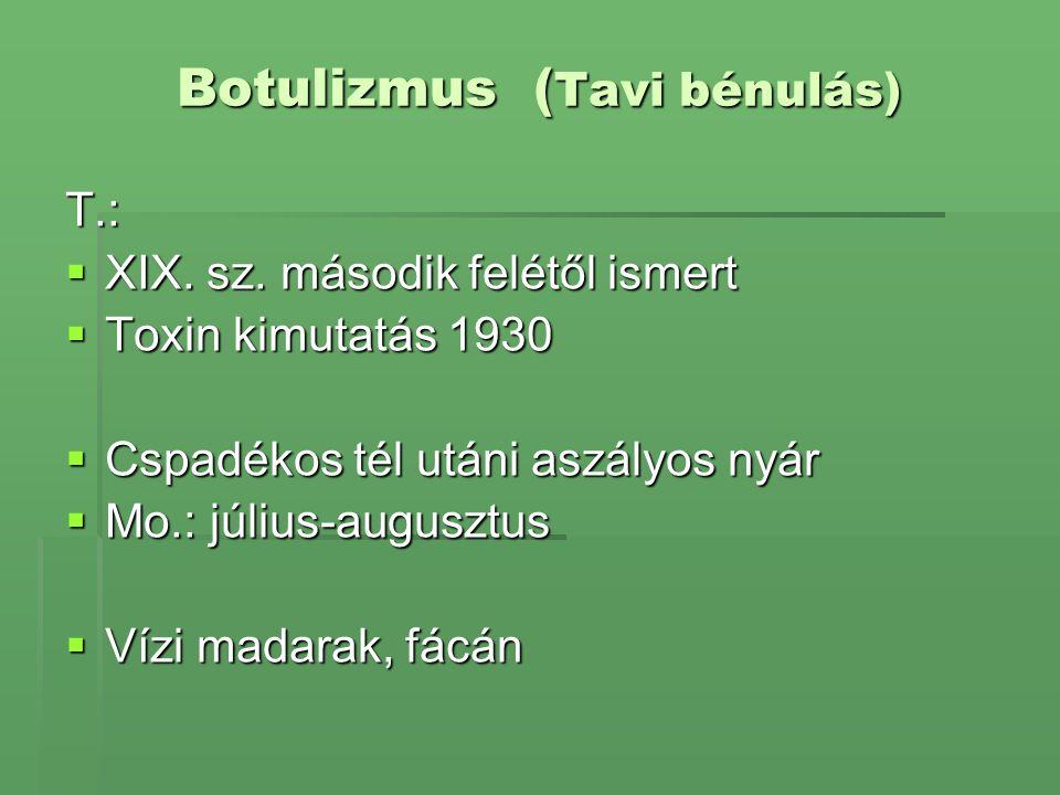 Botulizmus (Tavi bénulás)