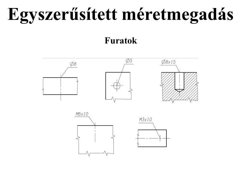 Egyszerűsített méretmegadás