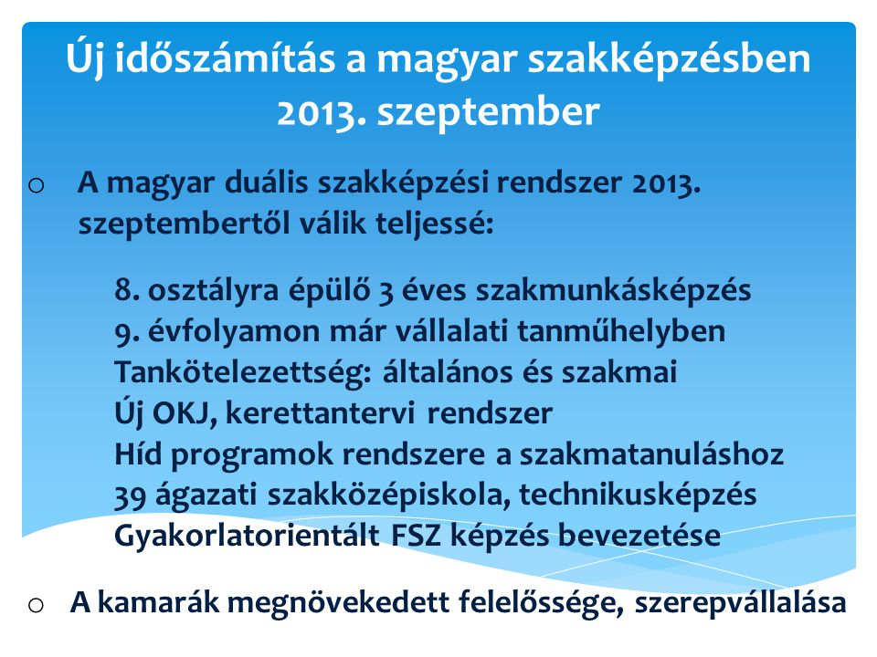 Új időszámítás a magyar szakképzésben