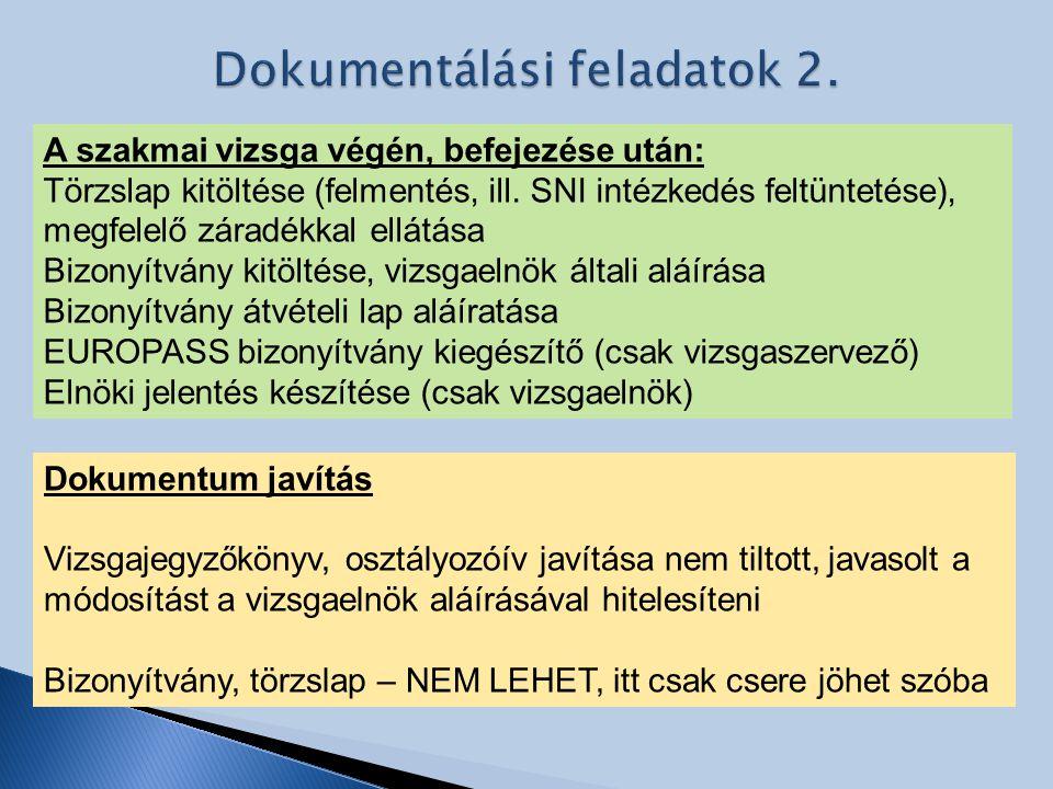 Dokumentálási feladatok 2.