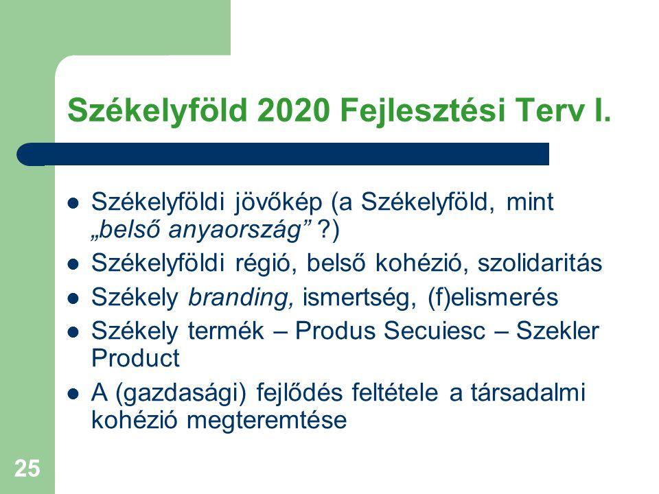 Székelyföld 2020 Fejlesztési Terv I.