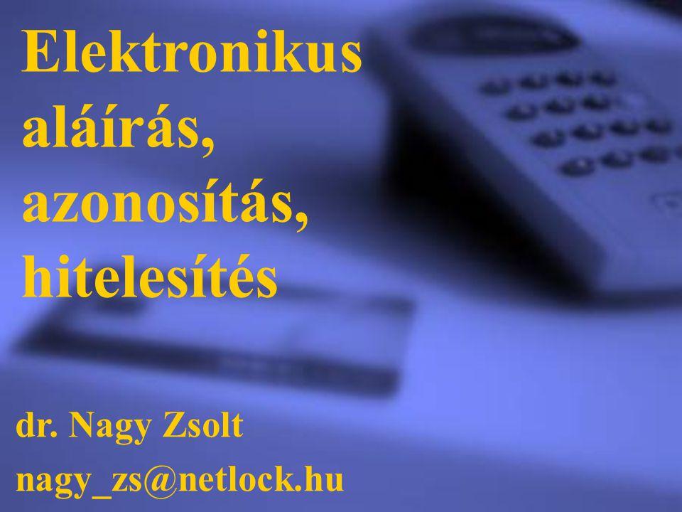 Elektronikus aláírás, azonosítás, hitelesítés