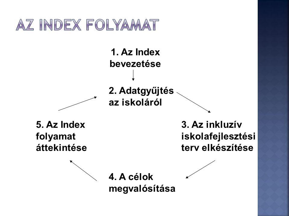 Az index folyamat 1. Az Index bevezetése 2. Adatgyűjtés az iskoláról