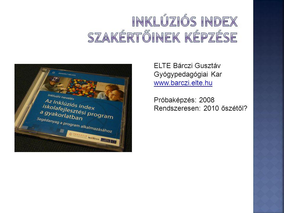 Inklúziós index szakértőinek képzése