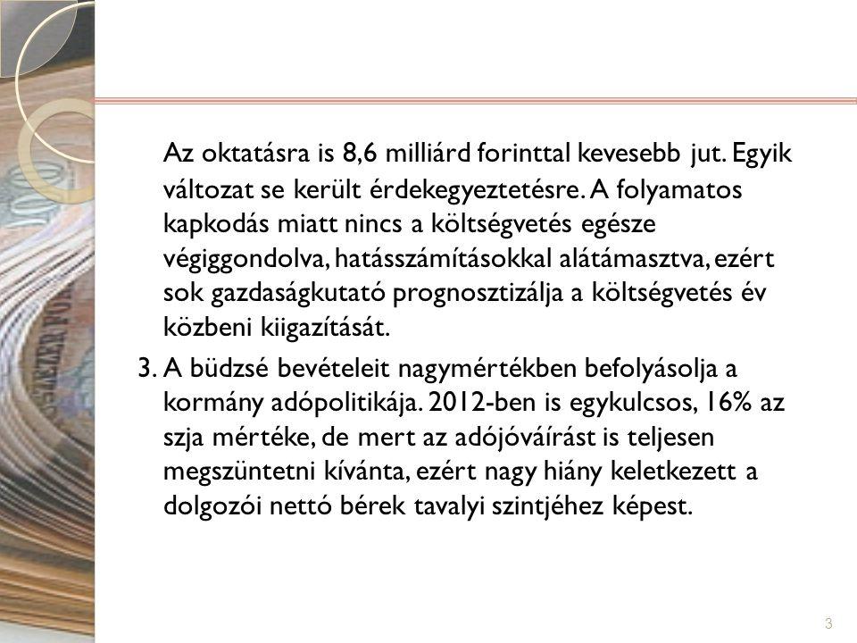 Az oktatásra is 8,6 milliárd forinttal kevesebb jut