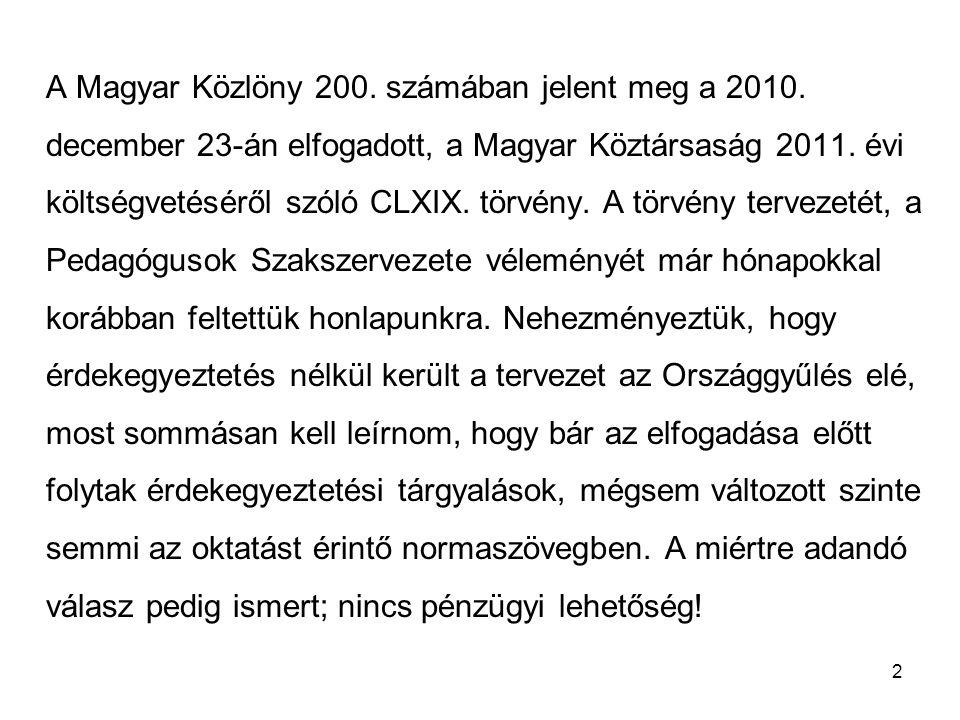 A Magyar Közlöny 200. számában jelent meg a 2010