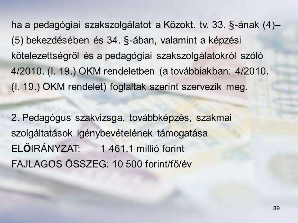ha a pedagógiai szakszolgálatot a Közokt. tv. 33