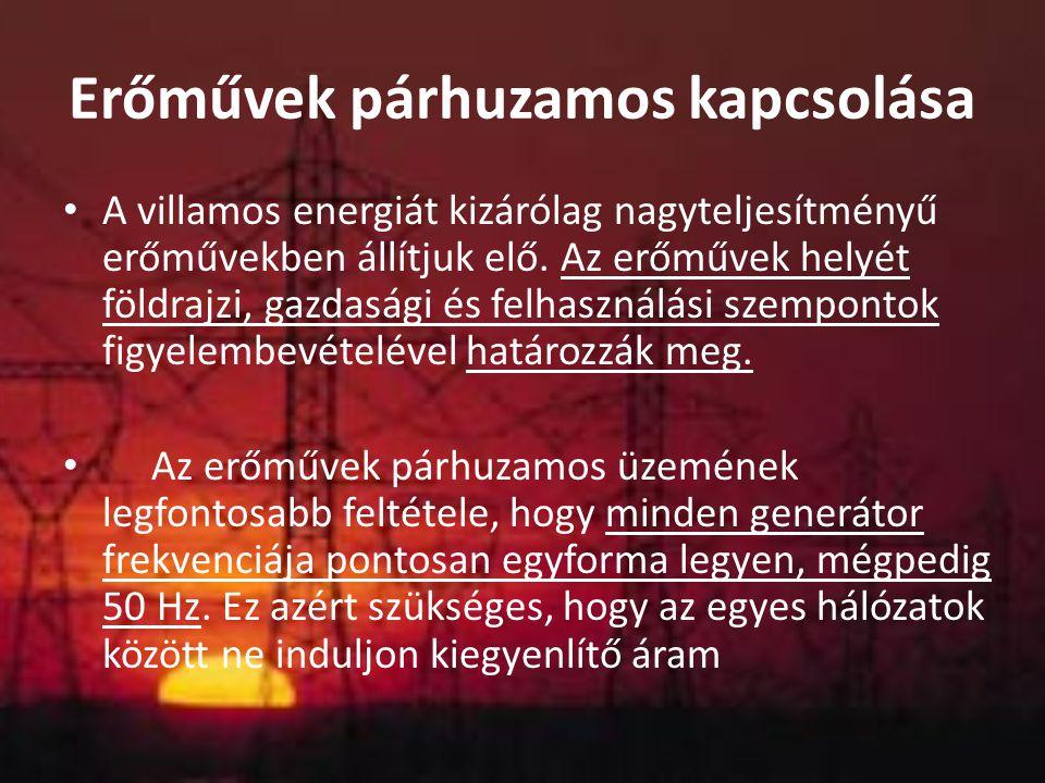 Erőművek párhuzamos kapcsolása