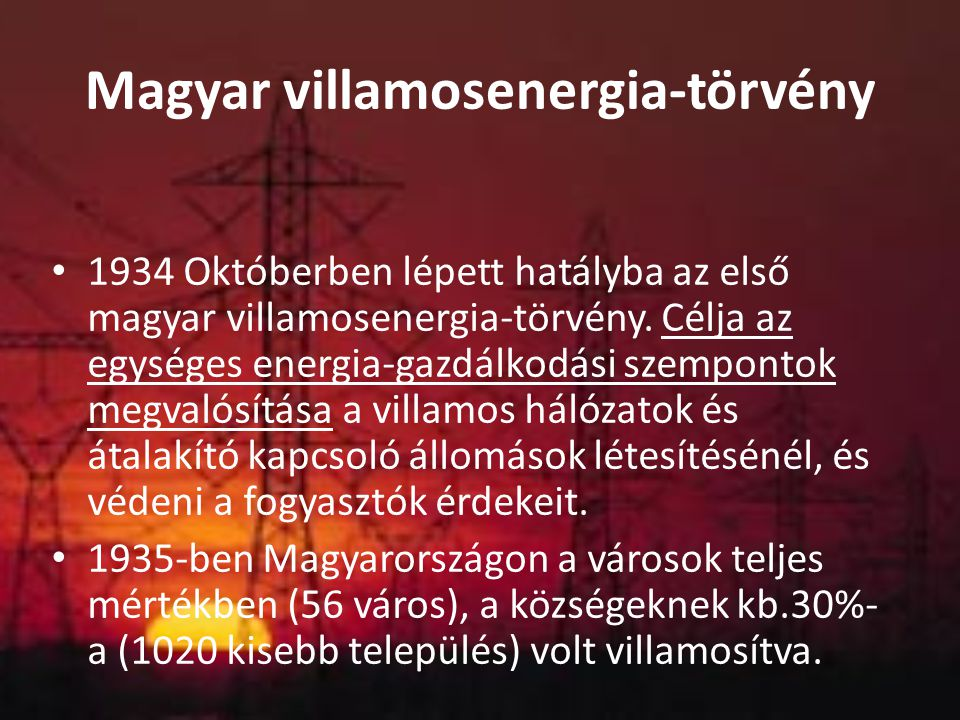 Magyar villamosenergia-törvény