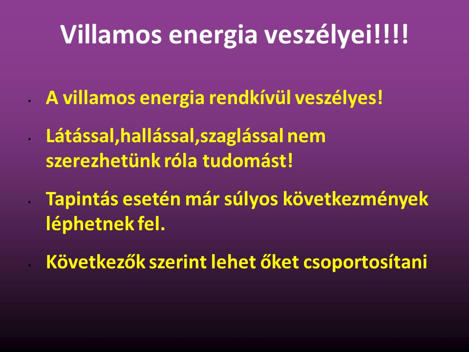 Villamos energia veszélyei!!!!