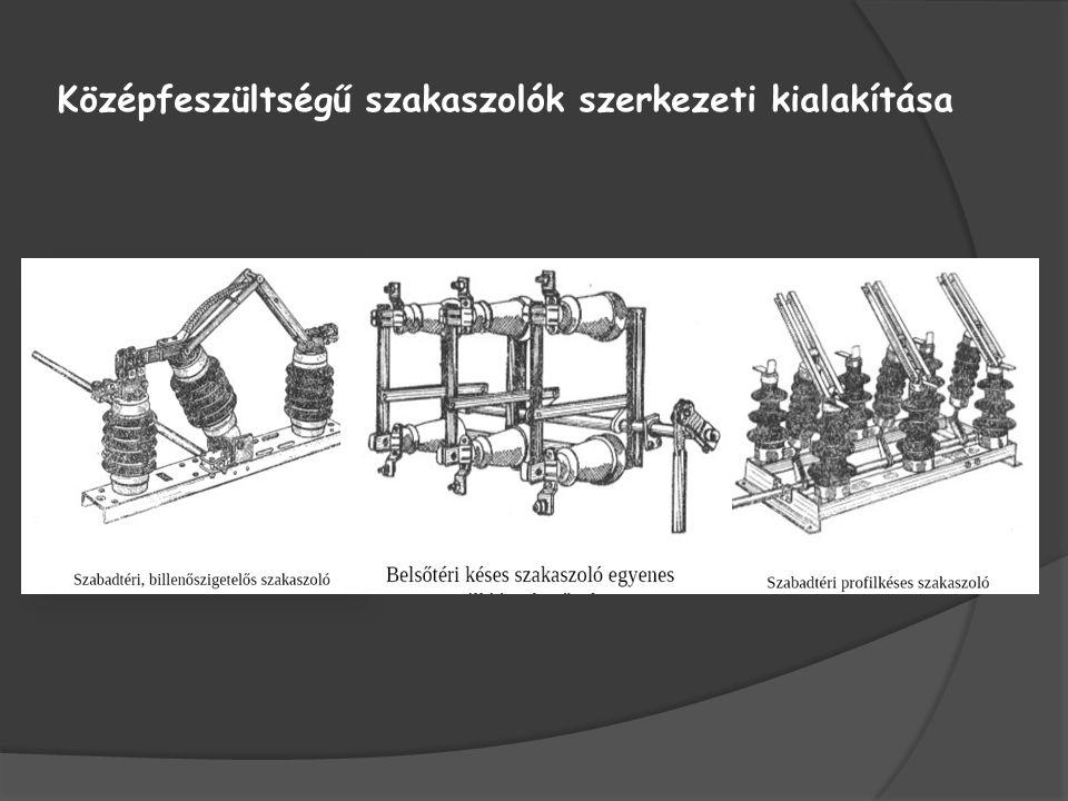 Középfeszültségű szakaszolók szerkezeti kialakítása