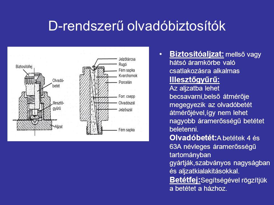 D-rendszerű olvadóbiztosítók