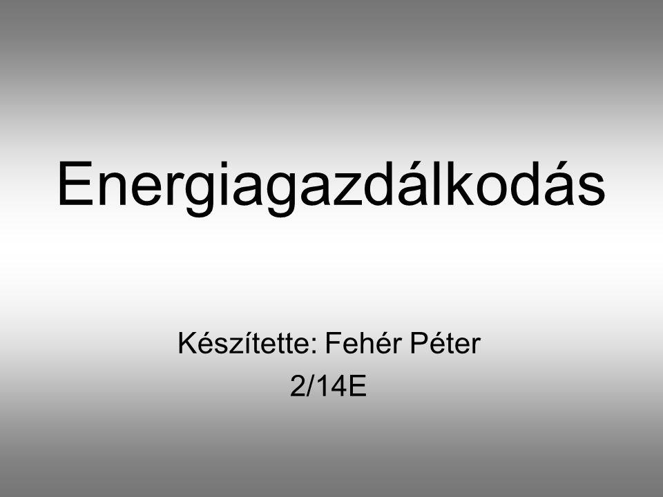 Készítette: Fehér Péter 2/14E