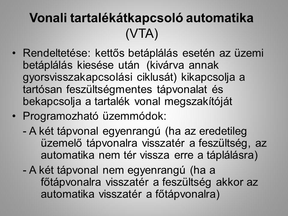Vonali tartalékátkapcsoló automatika (VTA)