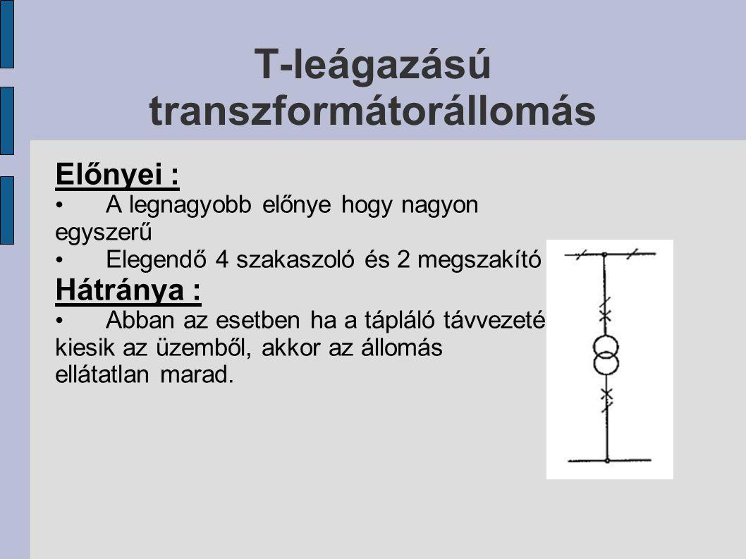 T-leágazású transzformátorállomás