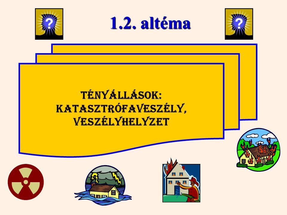 1.2. altéma Tényállások: Katasztrófaveszély, Veszélyhelyzet 25