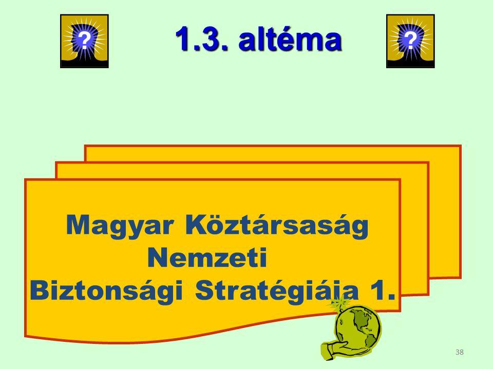 Biztonsági Stratégiája 1.
