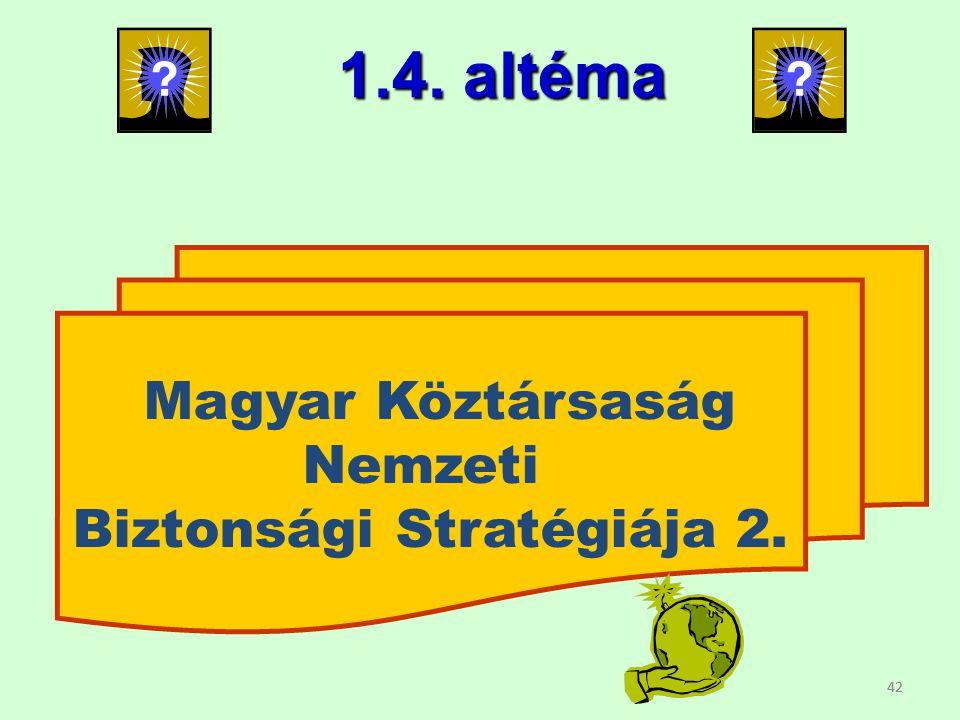 Biztonsági Stratégiája 2.
