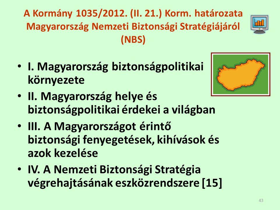 I. Magyarország biztonságpolitikai környezete