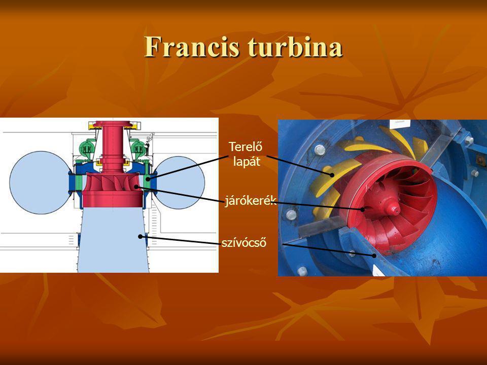 Francis turbina Terelő lapát járókerék szívócső