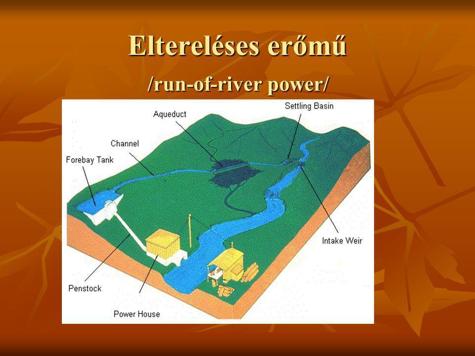 Eltereléses erőmű /run-of-river power/