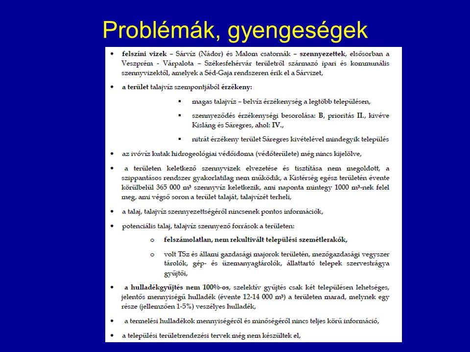 Problémák, gyengeségek