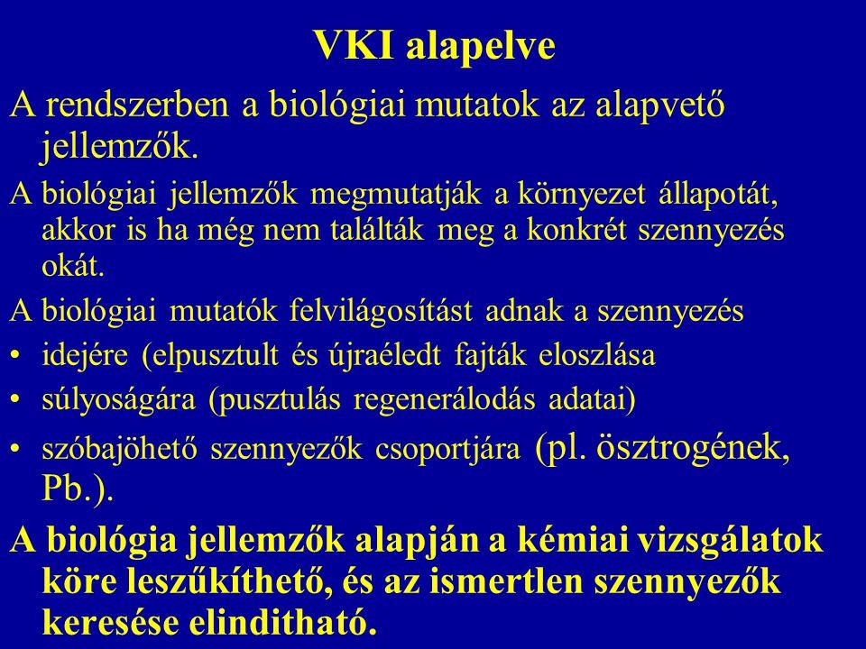 VKI alapelve A rendszerben a biológiai mutatok az alapvető jellemzők.