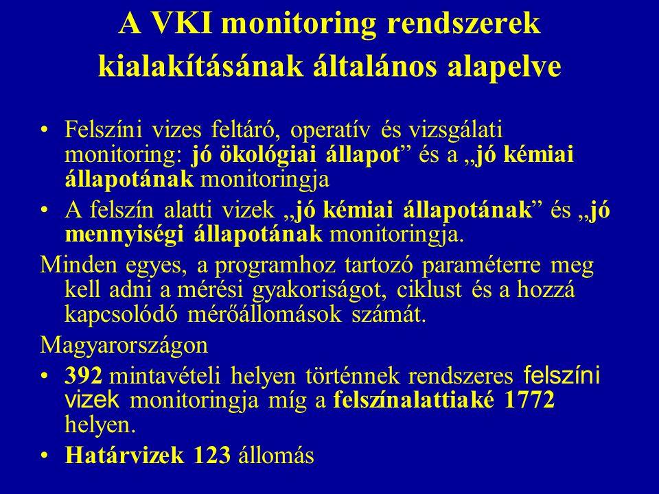 A VKI monitoring rendszerek kialakításának általános alapelve