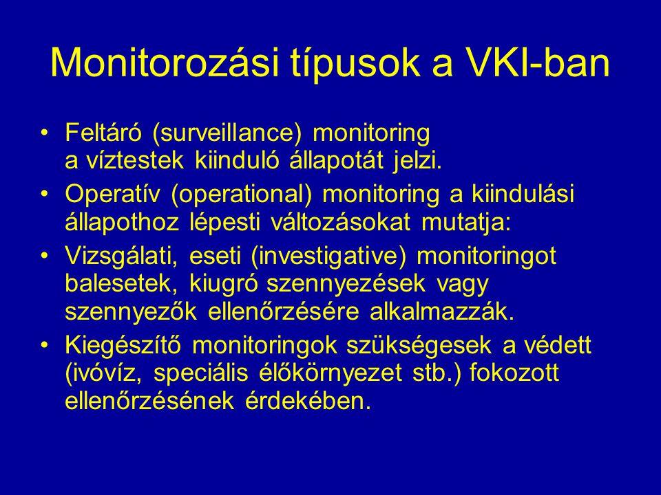 Monitorozási típusok a VKI-ban