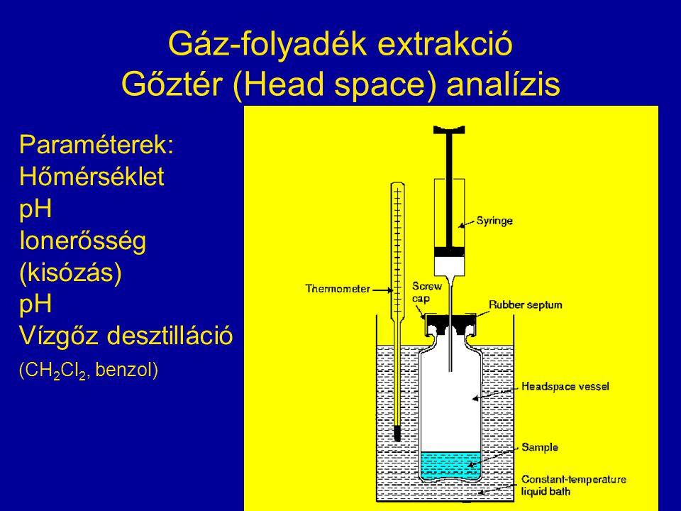 Gáz-folyadék extrakció Gőztér (Head space) analízis