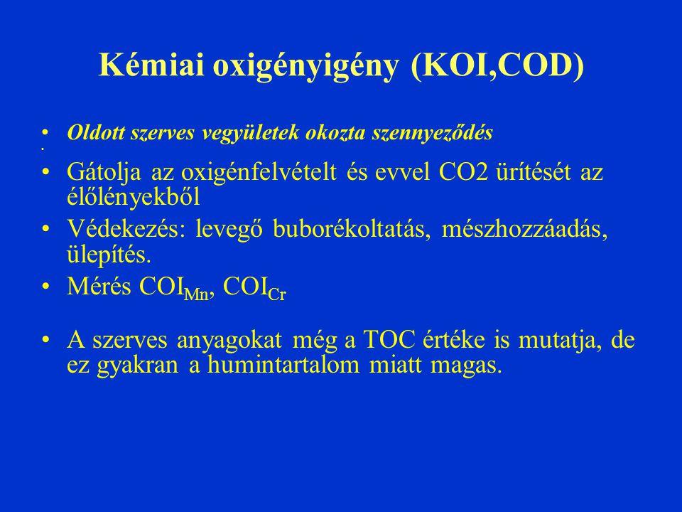 Kémiai oxigényigény (KOI,COD)