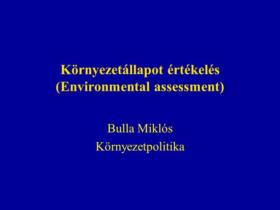 Környezetállapot értékelés (Environmental assessment)